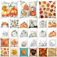 Fall Autumn Harvest Pumpkin Thanksgiving Cushion Cover Throw Pillow Case Decors