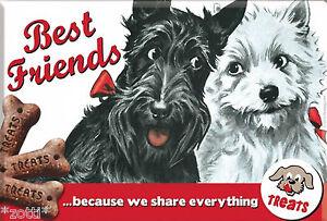 Nostalgic Art Magnet Best Friends Schnauzer Terrier Dogs Are Best Friends