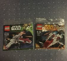 Lego New 30272 A-Wing Starfighter,30240 Z-95 Headhunter Star Wars Poly Bag Sets