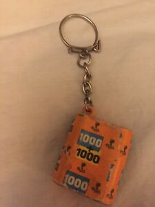 Vintage Novelty Keychain Popla 2x1000 Preowned. As-is, As- Found.