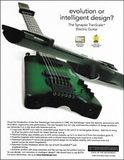 The Steinberger Synapse Transcale Headless guitar ad 8 x 11 advertisement print