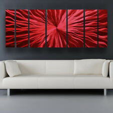 Modern Contemporary Abstract Metal Wall Art Red Sculpture Painting Home Decor