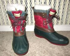 Vintage 1990s Arctic Gear Colorful Winter Boots Duck Boots Insulated Waterproof