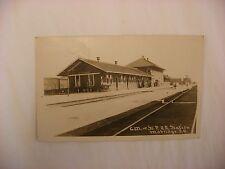 Railroad Depot C.M. & St. P.R.R. Station Mobridge SD Postcard RPPC 1924 #162