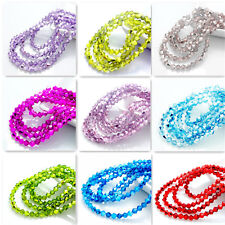 hot color 200pcs bicone crystal glass loose spacer 4mm beads DIY
