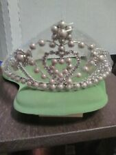 "Shimmering Sparkly Pearly Tiara Sits 2 3/4"" Tall"