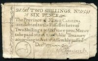 DECEMBER, 1771 2s 6p TWO SHILLINGS SIX PENCE NORTH CAROLINA COLONIAL CURRENCY