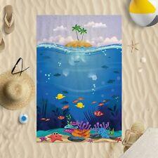 147cmx99.1cm Bajo Agua Scene EL MAR Microfibra Toalla Playa Sol Piscina Baño