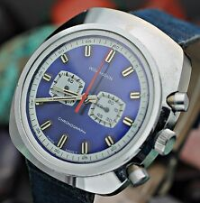 Vintage WAKMANN By BREITLING Chronograph 7j Asymmetric Swiss Made Watch SERVICED