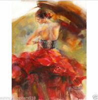 CHENPAT308 abstract dancing girl portrait art hand-painted oil painting canvas