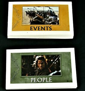 """2003 Monopoly LORD OF THE RINGS """"CHANCE & COMMUNITY CHEST"""" Replacement Cards"""