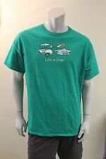 XL 'Life is crap' angry golfer T shirt