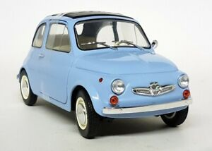 Solido 1/18 Scale - Fiat 500 Steyr Puch 500 Light Blue 1969 Diecast model car