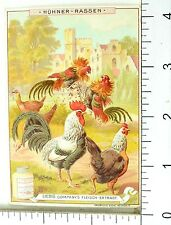 1880's Varieties of Chickens Lovely Scenes Liebig Victorian 6 Trade Card Set K84