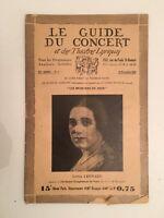 El Guía de La Concierto Y Las Teatro Letra Lotte Leonard N º 7 1928