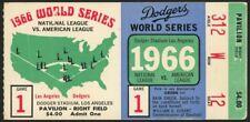 Vintage 1966  Orioles vs L.A.Dodgers World Series A.L vs N.L Game 1 Ticket Stub