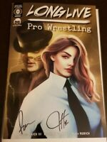 Long Live Pro Wrestling #0 (2020)🔑COMIC TOM 101 EXCLUSIVE🔥DOUBLE SIGNED🔥NM+