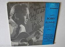Bobby Runnel 1969 Hawk LP A Winning Streak Of One Live with SIGNED Cover