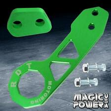 Rear Universal Race Tow Hook Kit CNC Aluminum Alloy Green JDM Anodized Gen 2