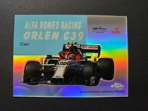 2020 Topps Chrome Formula 1 #54W-23 World on Wheels Alfa Romeo Racing Orlen C39