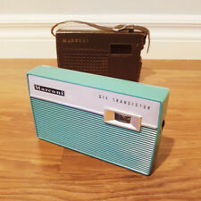Rare 1960 Marconi 2000 Six Transistor Radio, With Leather Case, Working