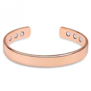 Rose Gold Bio Copper Bracelet Magnetic Healing Unisex Arthritis Pain Relief