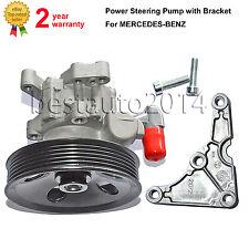 Power Steering Pump+Bracket For Mercedes C,E,M-CLASS CLK SLK 280 320 350 M112
