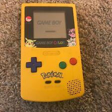 Nintendo Gameboy Color CGB-001 Yellow Pokemon Pikachu Version