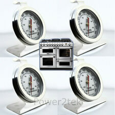 4x Smeg Oven Thermometer Stainless Steel Oven Cooker Temperature Agas & Rayburns