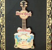 Hard Rock Cafe Pin Myrtle Beach CITY T V8 Guitar pyramid beach wave hat lapel