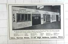1929 Esavian Folding And Sliding Windows, Garage Doors, Screens