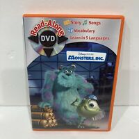 Monsters Inc Incorporated Read Along Dvd Learn to Read Reading