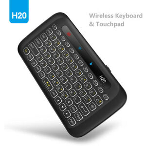 H20 Mini Wireless Keyboard Backlight Touchpad Remote Control for PC Smart TV