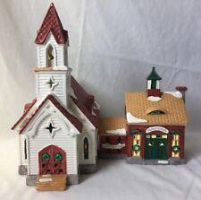 Dept. 56 Snow Village Good Shepherd Chapel and Church School Lighted 54240