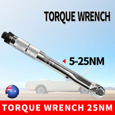 """Drive Torque Wrench Click Ratchet Hand Spanner Tool 1/4""""  5~25nm 4 18 ft/lbs AU"""