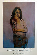 """David Levine - Personally Autographed Print """"Thoughtful Prelude"""""""