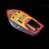 "5"" Candle Powered Steam Boat Pop Pop Putt Putt Boat Vintage Litho Tin Toy Gift"