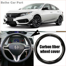 For Honda Civic Carbon Fiber Leather Steering Wheel Cover Sport Racing case