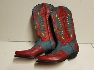 10 Cowboystiefel Westernreitstiefel Catalan Style Rancho Strauß Roper Rot 42