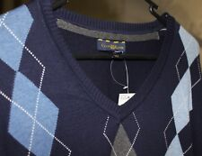 NEW Club Room Mens navy jumper 100% Cotton SIZE XL