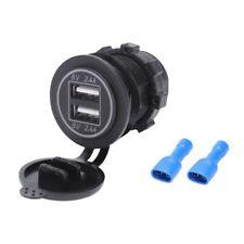 5V 4.8A Dual Usb Charger Socket Adapter Power Socket For 12V 24V Car Ship Rv D9W
