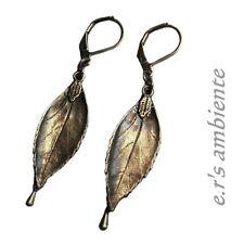 Ohrringe mit BLÄTTERN, Bronze-Vintage-Look, Ohrhänger, 0864