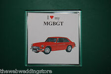 MGB GT - Drink mat - Coaster - Gift - Fathers day - Retro Gift - FUN ITEM