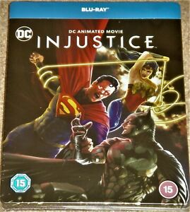 INJUSTICE COLLECTORS EDITION STEELBOOK  / BLU RAY / WORLDWIDE SHIPPING