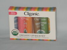 Cliganic Organic Lip Balm Set - 6 Assorted Flavors 100% Natural Lip Butter *NEW*