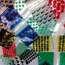 1510 ZIPLOCK PLASTIC BAGS DESIGN 10000 PCS 10 DESIGNS CHOOSE FROM DESCRIPTN PAGE