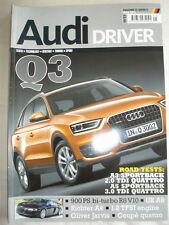 Audi Driver May 2011 Q3, A3 Sportback 2.0 TDI Quattro, A5 Sportback 3.0 TDI