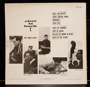 CHET BAKER CHET IS BACK-LP FIRST PRESS ITALY 1962- RCA PML 10307-AMEDEO  TOMMASI