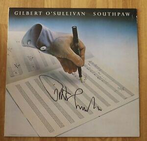 """ORIGINAL Autogramm von Gilbert O`Sullivan auf VINYL 12"""". """"SOUTHPAW""""."""