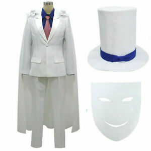 DETECTIVE CONAN Magic Kaito Kid the Phantom Thief Uniforms Cosplay!a